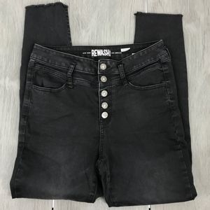 Rewash high rise jeans black button up size9/29